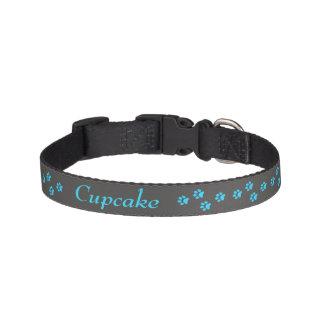 Blaues Tatzen-Druck-Hundehalsband Hundehalsbänder