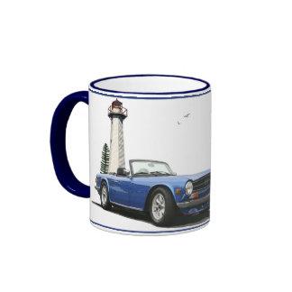 Blaues TR6 Ringer Tasse