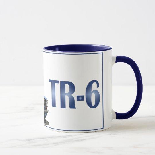 Blaues TR6 Tasse