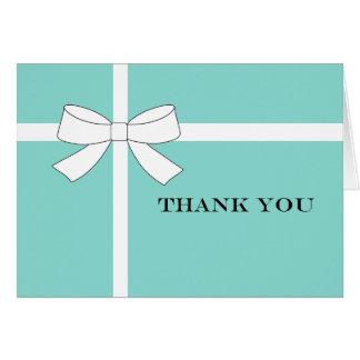 Blaues u. weißes Empfangs-Party danken Ihnen Karte