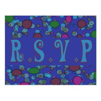 blaues uAwg Postkarte