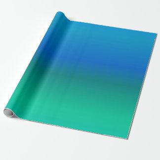 Blaues und aquamarines Verpackungs-Papier Geschenkpapier