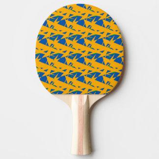Blaues und gelbes Klingeln Pong Paddel Tischtennis Schläger
