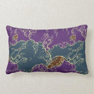 Blaues und lila dekoratives Muster Kissen
