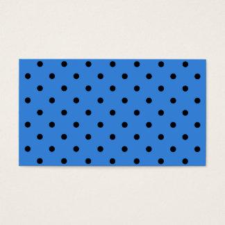 Blaues und schwarzes Tupfen-Muster Visitenkarte