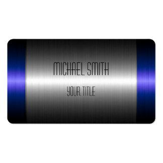 Blaues und silbernes Edelstahl-Metall 2 Visitenkarten