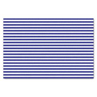 Blaues und weißes gestreiftes Seidenpapier