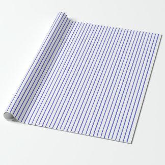 Blaues und weißes Nadelstreifen-Packpapier Geschenkpapier