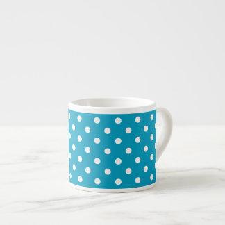 Blaues und weißes Tupfen-Muster Espressotasse
