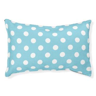 Blaues und weißes Tupfen-Muster Haustierbett