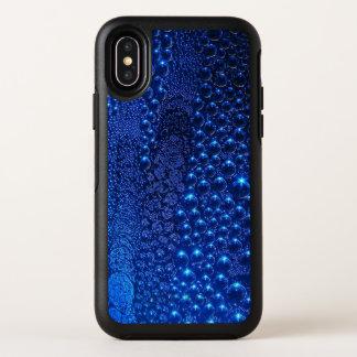 Blaues Veloursleder sprudelt dünner x-Fall OtterBox Symmetry iPhone X Hülle