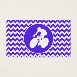 Blaues violettes Zickzack; Radfahren Visitenkarte