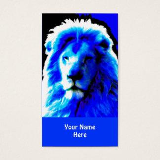 Blaues Visitenkartehauptblau des Löwes Visitenkarte