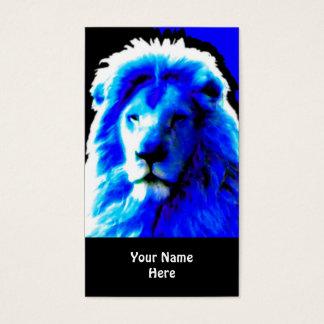 Blaues Visitenkartehauptschwarzes des Löwes Visitenkarte