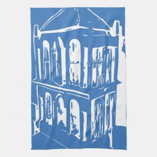 Blaues Vogelkäfig-Geschirrtuch Handtuch
