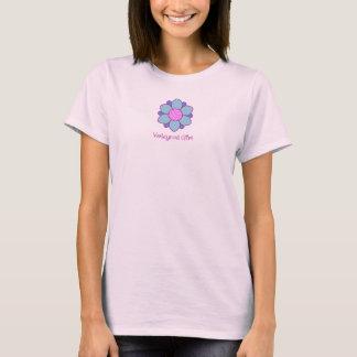 Blaues Volleyball-Mädchen T-Shirt