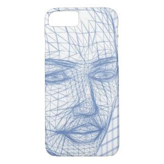 Blaues vorbildliches Zeichnen 3D des iPhone 8/7 Hülle
