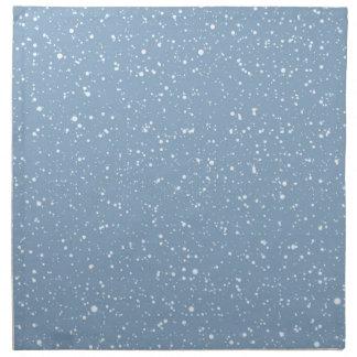 Blaues warmes Winter-Märchenland Snowy Serviette