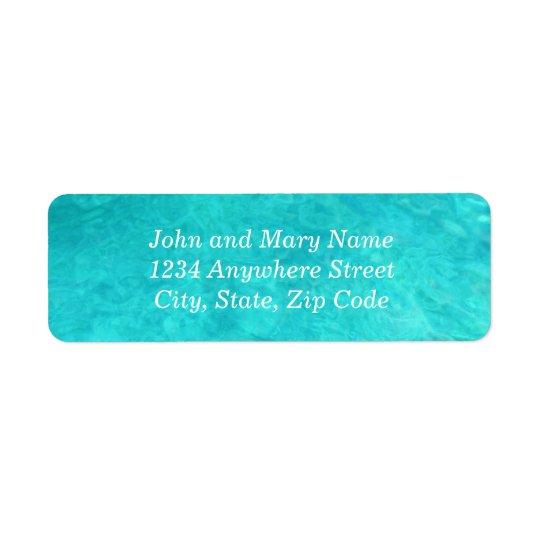 Blaues Wasser-Farbadresse Rückversand-Adressaufkleber