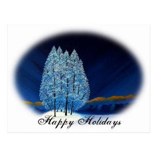 Blaues Weihnachten #6 Postkarte