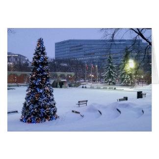 Blaues Weihnachten, Calgary, Alberta, Kanada Karte