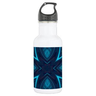 Blaues Wildblume-Fraktal Trinkflasche