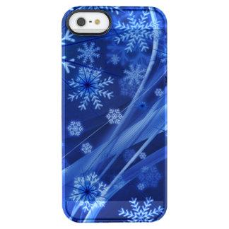 Blaues Winter-Schneeflocke-Weihnachten Durchsichtige iPhone SE/5/5s Hülle