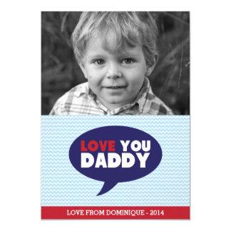 Blaues Zickzack der Vatertags-Karte Liebe-Sie 12,7 X 17,8 Cm Einladungskarte
