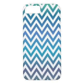 Blaues Zickzack Muster iPhone 8/7 Hülle