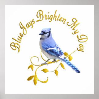 Blauhäher erhellen meinen Tag Poster