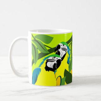 Blauund Goldmacaw-Tassen Kaffeetasse