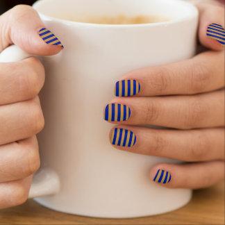Blauund Goldminx-Nagel-Kunst Minx Nagelkunst