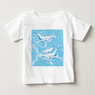 Blauwal-Familie Baby T-shirt