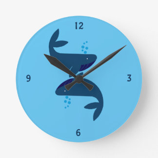 Blauwale Runde Wanduhr