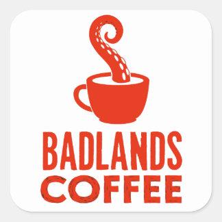 BLC Logo u. Text-Aufkleber, Rot, Landschaft Quadratischer Aufkleber