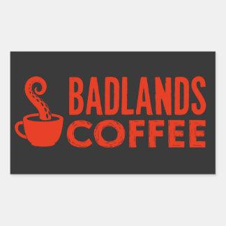 BLC Logo u. Text-Aufkleber, Schwarzes, Landschaft Rechteckiger Aufkleber