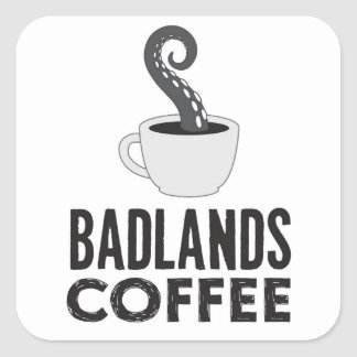 BLC Logo u. Text-Aufkleber, weiß Quadratischer Aufkleber