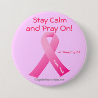 Bleiben Sie Ruhe und beten Sie an! Runder Button 7,6 Cm