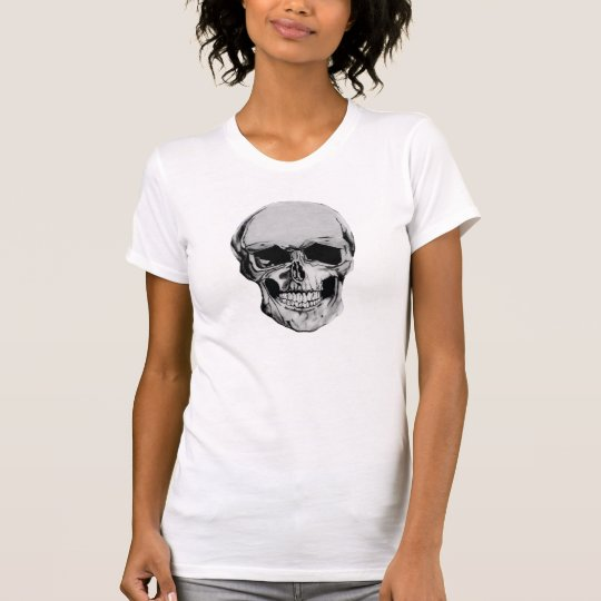 Bleistift, der Schädel-Entwurf - Damen-T-Shirt T-Shirt
