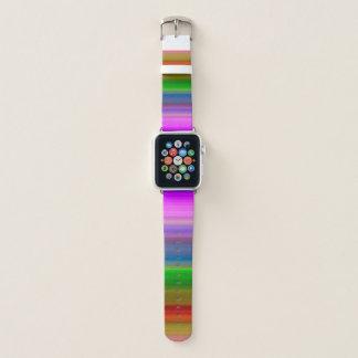 Bleistift-gestreiftes mehrfarbiges apple watch armband