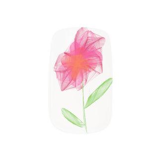 Bleistift gezeichnete rosa unbedeutende Blume Minx Nagelkunst