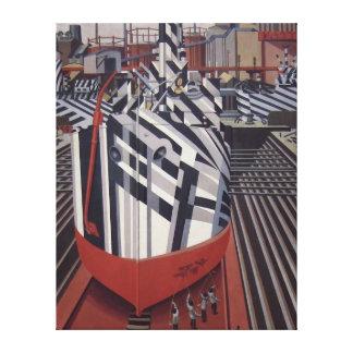 Blenden-Schiffe in Drydock eingewickeltem Leinwanddruck