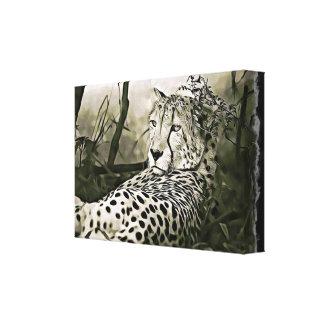 Blendend Gepard-Digital-Wand-Kunst Leinwanddruck