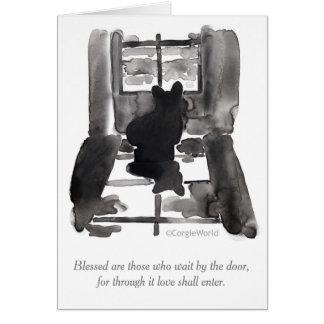"""""""Blessed sind die, die"""" Corgibeatitudes-Karte Mitteilungskarte"""