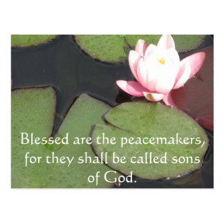 Blessed sind die Friedensstifter, denn sie sollen Postkarte