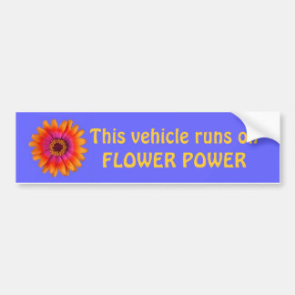 bleu d'adhésif pour pare-chocs de flower power, ce autocollant de voiture