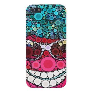 Bleu de sourire frais génial de rose de chapeau de étui iPhone 5