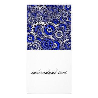 bleu génial de fleurs (c) photocartes personnalisées
