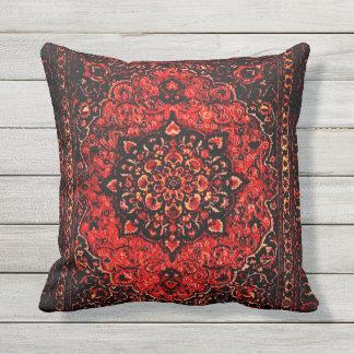 Blick des persischen Teppichs in der Rose tönte Kissen Für Draußen