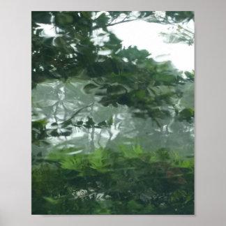Blicken durch den Regen 2 - abstraktes Foto Poster
